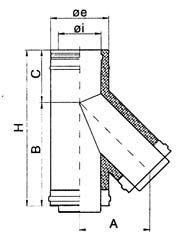 Canne fumarie doppia parete inox Cordivari